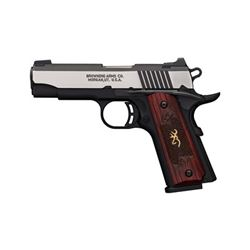 "Browning, 1911-380, Black Label, Medallion, Pro Compact, Semi-automatic, 380ACP, 3.63"" Barrel"