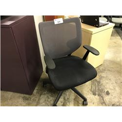 BLACK AND GREY MESH BACK TASK CHAIR