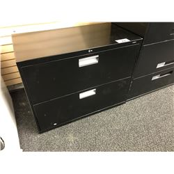 HON BLACK 2 DRAWER LATERAL FILE CABINET