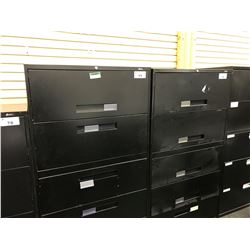 GLOBAL BLACK 5 DRAWER LATERAL FILE CABINET