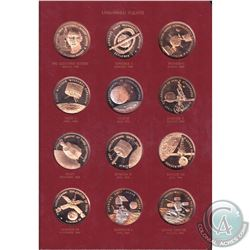 *Rare Vintage America In Space First Edition Solid Bronze Proof Set of 36 Medals. The set features A
