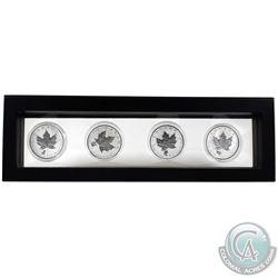 2016 & 2017 Canada 1oz Privy Mark .9999 Fine Silver Maple Leafs Encapsulated in Magic Window Frame.
