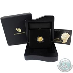 2016 USA 1/10oz Mercury Dime Centennial .9999 Fine Gold Coin in Deluxe Display Case (TAX Exempt)