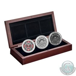 2015 Canada $25 Singing Moon Mask Fine Silver 3-coin Set (TAX Exempt)