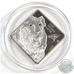 Malawi Mint Issue; SCARCE 2009 Republic of Malawi 50 Kwacha The White Lion 2oz .999 Fine Silver Proo