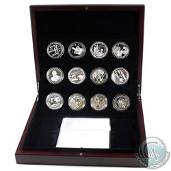 *2011 & 2012 Diamond Jubilee 12-coin Silver Set in Deluxe Display Case with Tray Issued by the RCM.