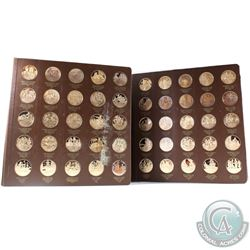 *Scarce 1970 Franklin Mint History of the American Revolution First Edition Solid Bronze Proof Set.