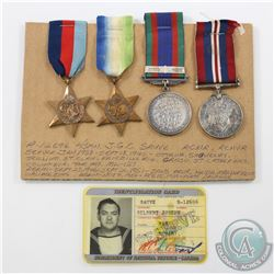 WWII Medal Set. You will receive Voluntary Service Medal, 1939-1945 War Medal, 1939-1945 Star, The A
