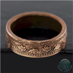 Canada Large 1-cent Coin Custom Jewellery Ring Size 8 - Made from a real Large 1-cent coin!