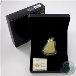 2020 Canada $50 Real Shapes: The Bluenose Fine Silver Gold-Plated Coin (outer cardboard sleeve has a
