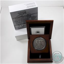 2017 Canadian Heritage Mint 10oz 1927 Medal Restrike Antiqued Finish .9999 Fine Silver Coin in Delux