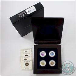 2011-2012 Canada $5 Full Moons of the Algonquin Sterling Silver & Niobium 4-coin Set issued by the R