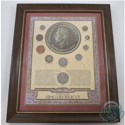 *Great Britain 'Coins of King George VI' 9-coin Set in Wooden Frame. The coins included are farthing