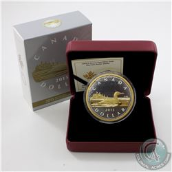 2015 Canada $1 Gold-Plated Big Coin 5oz Fine Silver Coin (TAX Exempt)