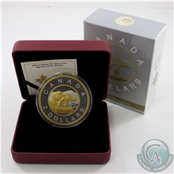 2015 Canada $2 Big Coin 5oz. Fine Silver Coin issued by the Royal Canadian Mint (outer sleeve has a