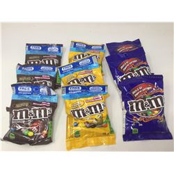Lot of Assorted M&M's (9 x 109g)