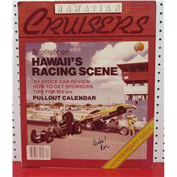 Hawaiian Cruisers Anniversary Edition Magazine Signed by Ron