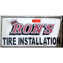Ron's Tire Installation Framed Metal Sign
