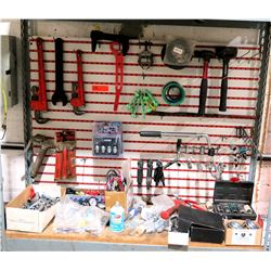 Multiple Misc Hand Tools - Pipe Wrenches, Hammers, Sockets, etc