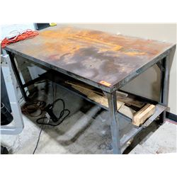 Metal Shop Work Table w/ Undershelf