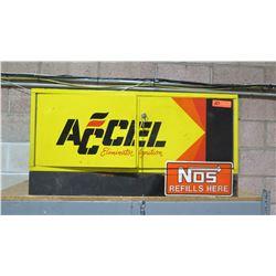 "ACCEL Eliminator Ignition ""NOS Refills Here"" Metal Cabinet"