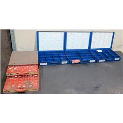 Qty 4 Metal Storage Boxes w/ Hex Fittings, Copper Gaskets, Screws, etc