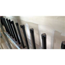Qty 18 Black Crowd Control Stanchion Posts for Nylon Strap Barricade