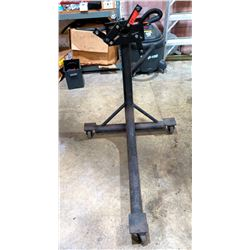 Black Metal Rotating Engine Stand