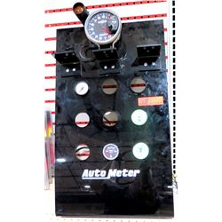 Auto Meter Commercial Display w/ RPM Gauge & 4 Misc Oil Gauges