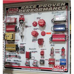 MSD Ignition Race Proven Performance Display w/ Distributors, Caps, etc. These are display items and