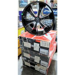 Qty 4 AR American Racing 22x9.0 Black Rims, Blank 78.3 hub AR894 229 00 3 15