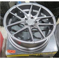 Qty 2 Niche M129 2085 21 Targa 20x8.5 – 5x120 Gray Rims