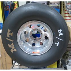 Mickey Thompson ET Drag 31.0/10.5-15W Racing Tire & Chrome Rim