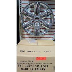 """Chrome Rim Imposter Wheel Skin 18"""":62493:08-14 Titan/Armada"""