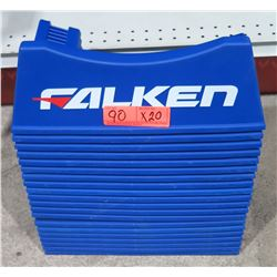 Qty 20 Falken Blue Plastic Tire Display Stands