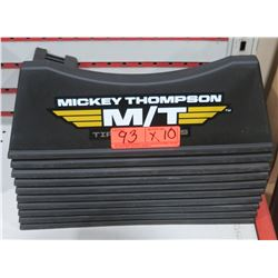 Qty 10 Mickey Thompson Black Plastic Tire Display Stands