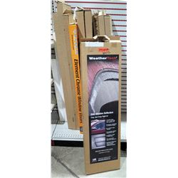 Qty 12 Misc Size Side Window Deflectors, Chrome Window Visors Tacoma, Camry, Highlander, etc