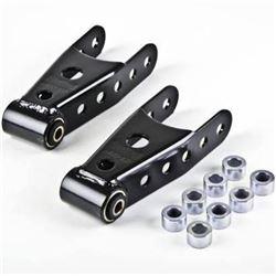 """Belltech 6401 Rear Lowering Shackle Kit (07-18 Chevrolet Silverado/Sierra 1/2 Ton (All) 2' or 3"""" Rea"""