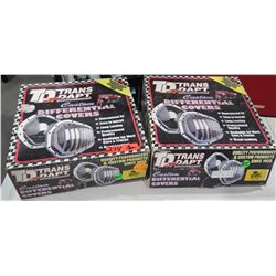 Qty 2 TD Trans Dapt TRA 9040 Dana 80 Chrome Diff Cover Kits
