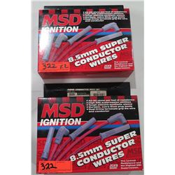 Qty 2 MSD Ignition 35329 8.5mm Super Conductor Wires 90-98 Acura