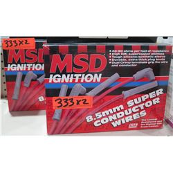 Qty 2 MSD Ignition 32339 Super Conductor Wires 86-89 Acura, Integra