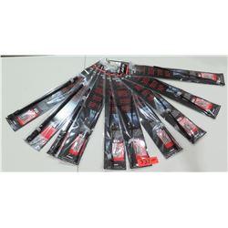 "Qty 10 AMI 4215K Stubbie Universal Antenna Black 15"" Stainless Steel Rod"
