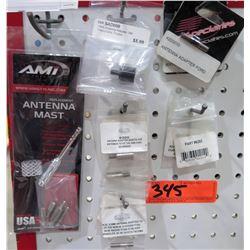 AMI 6203P Stubbie Universal Antenna & Multiple Adapters