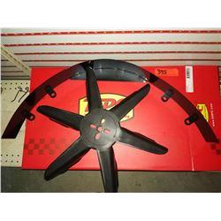 """RPC Racing Power Company R9453BK Fan Shroud 3"""" Black & Flex-a-lite #418  Fan Belt-Driven 18"""" One Pie"""