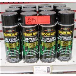 Qty 12 Boom Mat 050490 Hi Temp Spray Adhesive Cans, 10 oz $19/ea