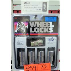 Qty 3 Gorilla 66641 Guard Locks Duplex Acorn 14mmx1.50 $22/ea