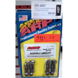 Qty 5 ARP 200-6207 General Replacement Rod Bolt Kit $80/ea