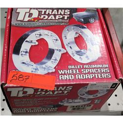 TD Trans Dapt Billet Aluminum 3609 Wheel Adapters 5x4.5 to 5x5.5 $156/set
