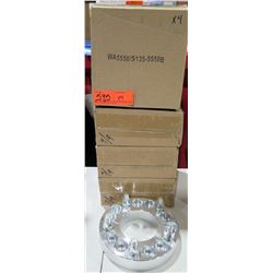 "Qty 4 Dual Pattern 1.25"" Adapters WA55505135-5550B 5x5.50/5x135 to 5x5.50 $236/set"