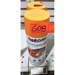 Qty 2 Dupli-Color CWRC806 Custom Wrap Removable Coating Matte Orange Spray Cans